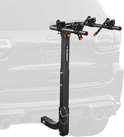 "IKURAM 4 Bicycle Bike Rack Carrier 2/"" Hitch Mount Rack Car Truck Foldable Steel"
