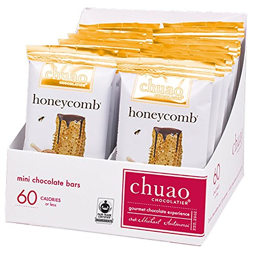 Chocolate Bars - Chuao Chocolatier Honeycomb Chocolate Bars 24pk (.39 oz mini bars) - Best-Selling Chocolate Pack - Gourmet Artisan Dark Chocolate - Free of Artificial Flavors