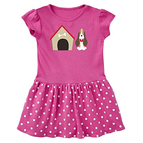 Dots Cotton Dog Collar (inktastic Dog House and Dog Toddler Dress 3T Raspberry With Polka Dots 266d2)