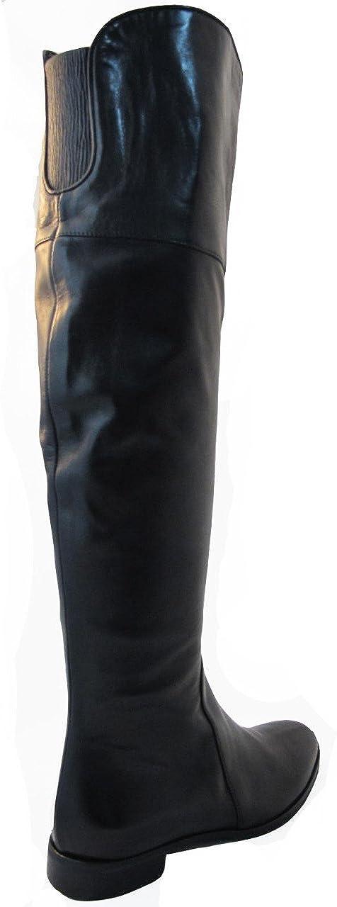 | Women's Davinci Italian Leather 6627 Flat Knee
