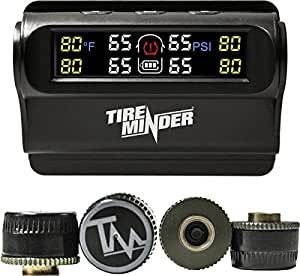 Amazon Com Tireminder Solar Powered Trailer Tpms 4 Tire