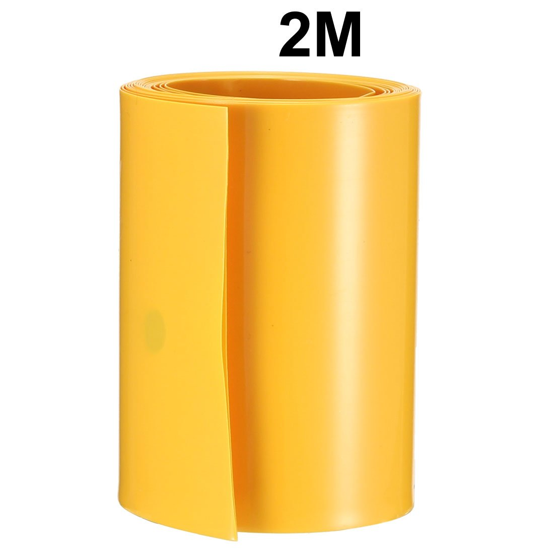 sourcing map 10Meter 64mm Width PVC Heat Shrink Wrap Tube Clear for AA Battery Pack
