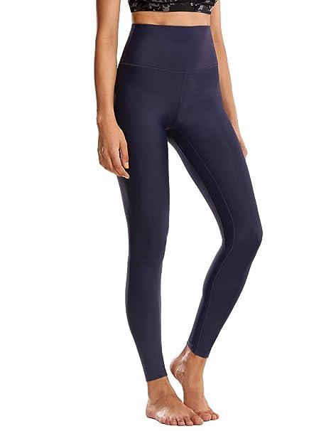 CRZ YOGA Mujer Calidez de Invierno Deportivos Alta Cintura Yoga Pantalones Fitness Mallas Gruesos-93cm