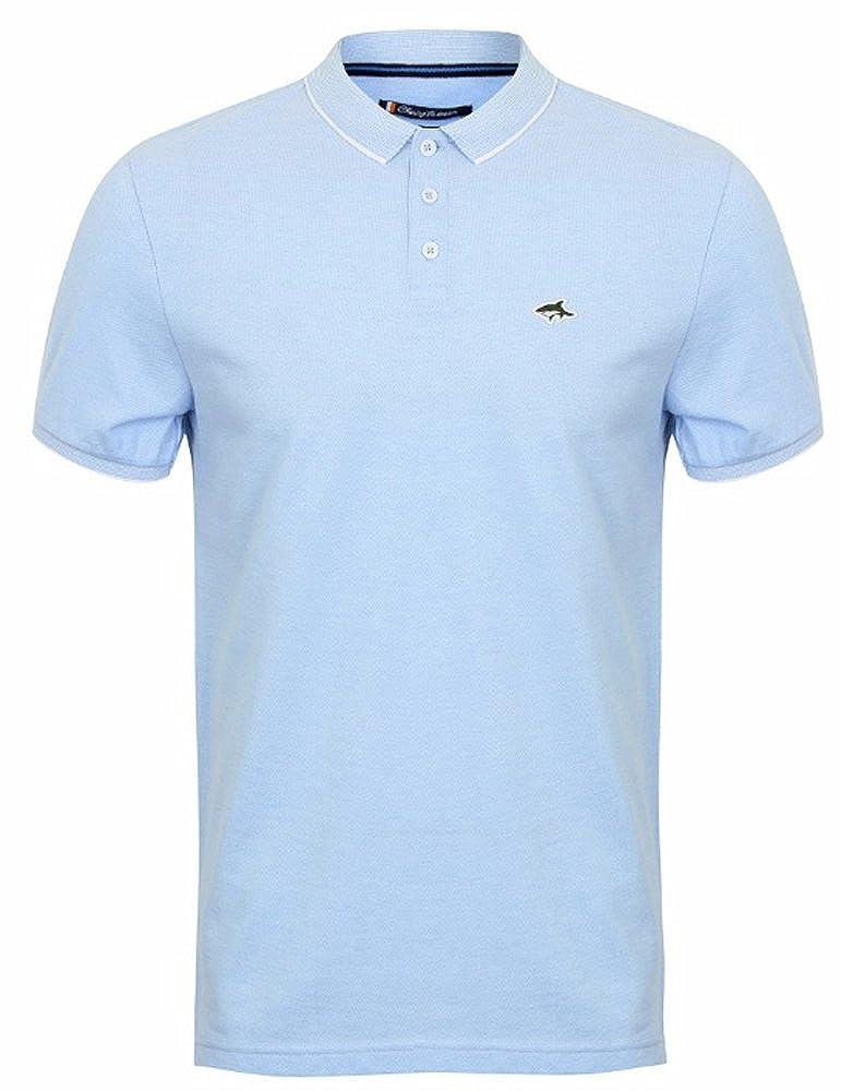 Mens Le Shark Polo T-shirt Birdseye Pique Designer Fit Short Sleeve Top MALVERN