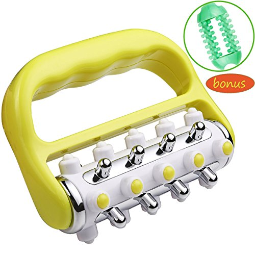 Fascia and Anti Cellulite Roller Massager Muscle Roller Fat Blasting Release Mini Trigger Point Deep Tissue Myofascial Release Tool Body Massager for Men and Women