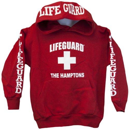 Lifeguard Kids The Hamptons NY Life Guard Sweatshirt Red Small (6-8)