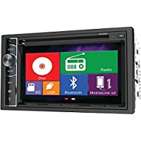 POWER ACOUSTIK PD-62H2B 6.2 Double-DIN In-Dash LCD Touchscreen DVD Receiver with Bluetooth(R) & MHL(R) MobileLink X2 PET2