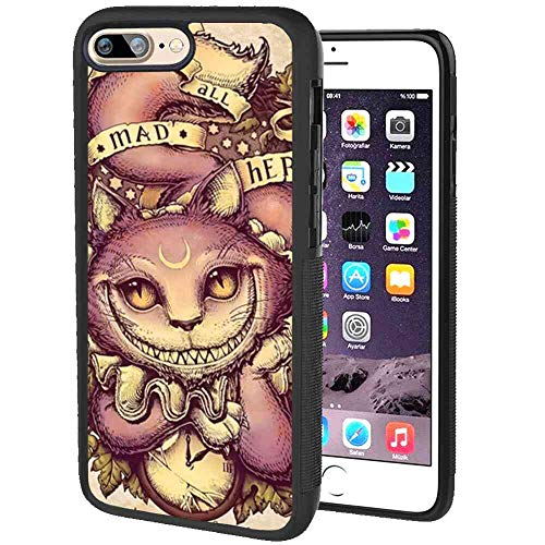 DISNEY COLLECTION Cheshire Cat Cover Case Compatible iPhone 7 Plus (2016)/iPhone 8 Plus (2017) [5.5inch]
