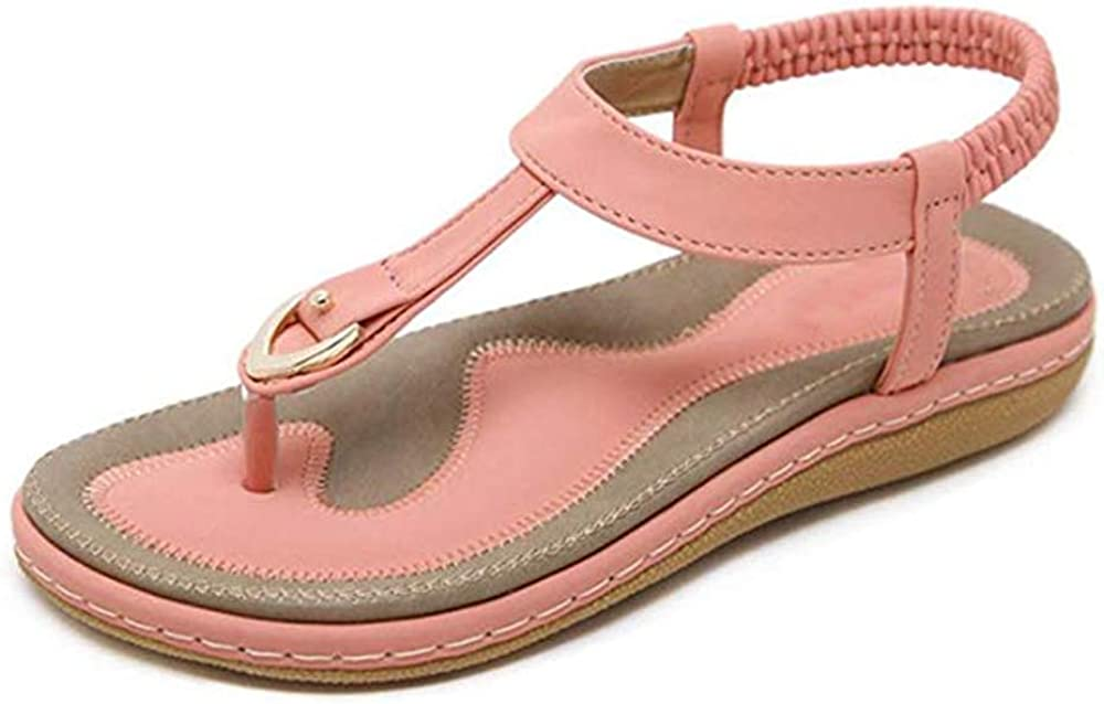 SOCOSANDS Womens Comfy Sandals Comfort Slip On Summers Sandals
