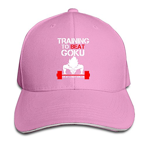 Price comparison product image AegeanSea TRAINING TO BEAT GOKU OR AT LEAST KRILLIN GYM Adjustable Baseball Cap Pink
