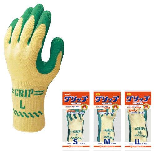 作業用手袋グリップ(ソフトタイプ) ()(23-7524-01)NO.310(M) B01KDPM6OO