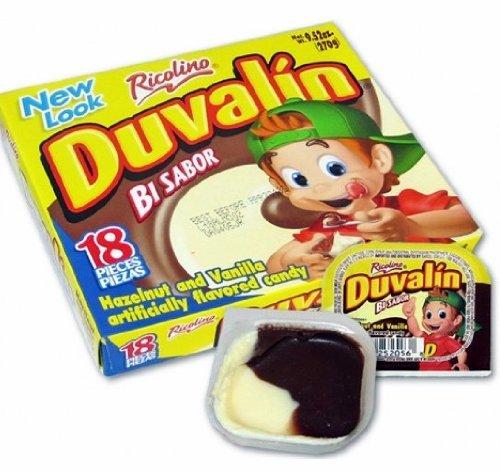 Duvalin Hazelnut & Vanilla Mexican Sweet Candy 18 Pcs - Duvalin Vanilla Candy