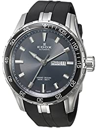 Men's 'Grand Ocean' Swiss Automatic Stainless Steel and Rubber Diving Watch, Color:Black (Model: 88002 3CA NIN)