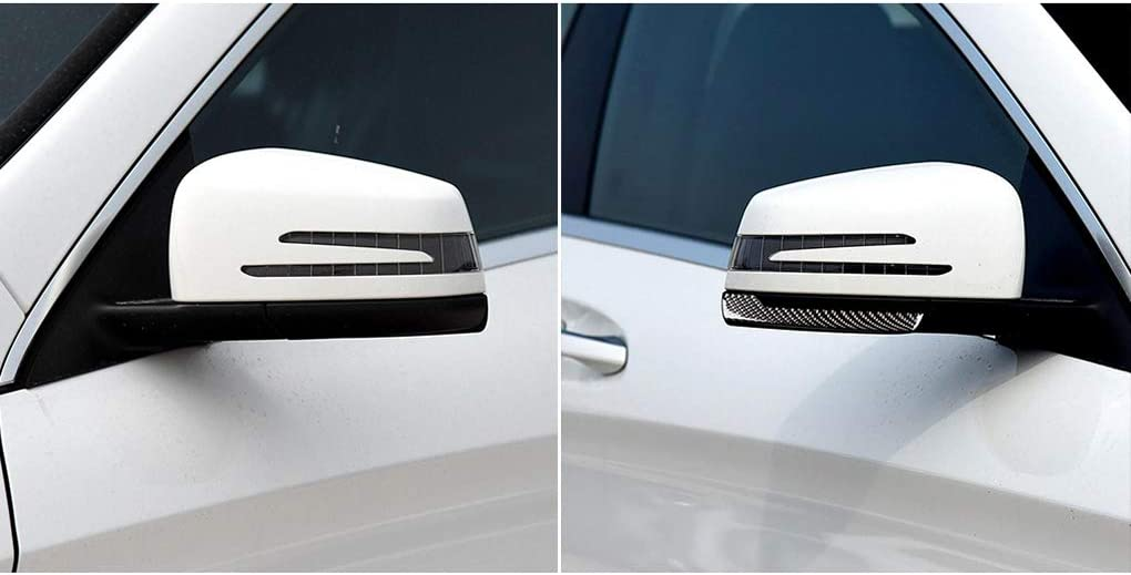 para el reemplazo 1 Par Espejo retrovisor Anti-Rub Tiras Mercedes-Benz Clase A Etiqueta de Fibra de Carbono anticolisi/ón