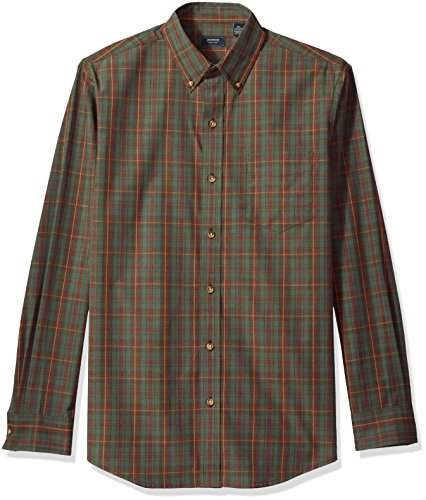 Arrow Men's Long-Sleeve Plaid Shirt, Cilantro, - Arrow Dress