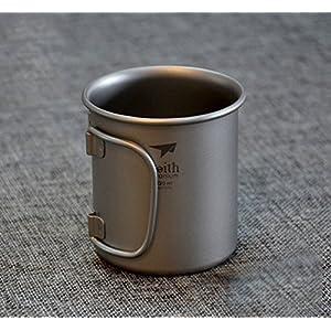 Keith Ti3200 Mini Camping Titanium Folding Handle Coffee Water Cup Ti Mug For Outdoor Travel Hiking Camping