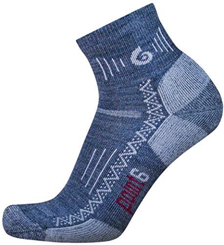 point6 Hiking Tech Light Cushion Mini Crew Socks (Gray, Large)