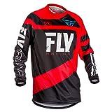 Fly Racing Men's Jersey (Red/Black, Youth Medium)