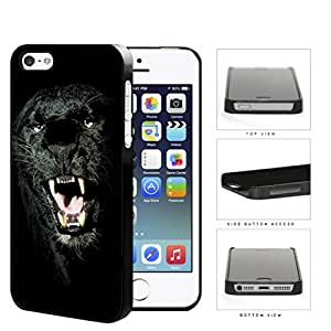 Ferocious Black Panther Close-up Hard Plastic Snap On Cell Phone Case Apple iPhone 5 5s