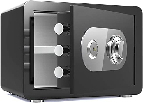 Yughb 30cm Caja Fuerte, Dinero seguro, Combinación de la cerradura del metal Cajas de seguridad for