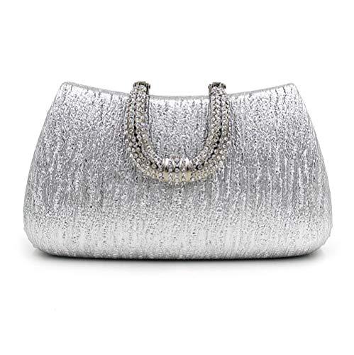 Dames Mariage en à la fête soirée à Dames coloré Main de U Embrayage ZHRUI Main Diamant Boucle pour en Sac de Blanc Blanc Sac Sac Forme fvxXB7wq