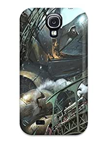 Hot Giant Robot Destroying The City First Grade Tpu Phone Case For Galaxy S4 Case Cover