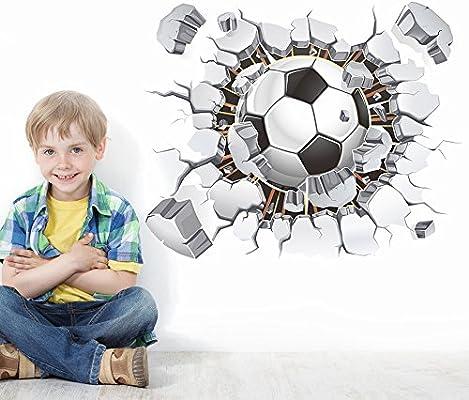 Houystory Vinilo Adhesivo de Pared 3D con diseño de balón de ...
