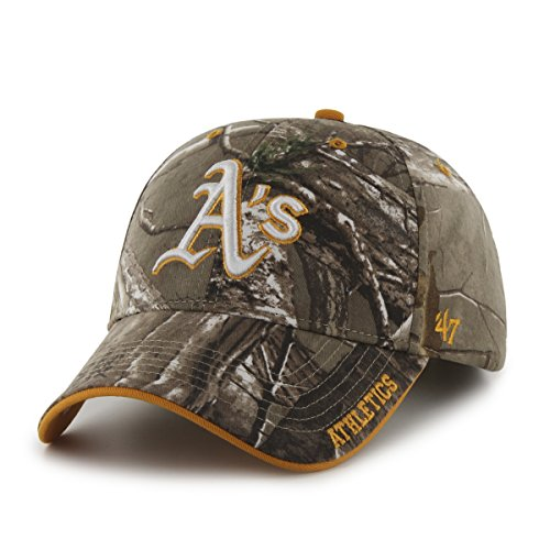 '47 MLB Oakland Athletics Frost MVP Adjustable Hat, One Size, Realtree Camouflage