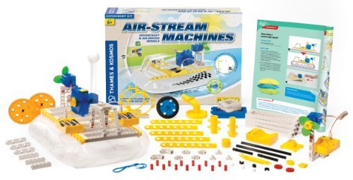 Thames & Kosmos 620912 Air-Stream Machines Science Experiment Kit with Coloring Book