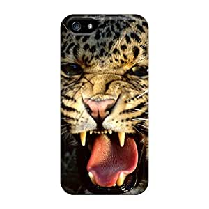 New Premium AlfredJWhite Angry Cheetah Skin Case Cover Excellent Fitted For Iphone 5/5s