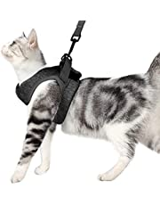 Cat Harness and Leash - Ultra Light Escape Proof Kitten Collar Cat Walking Jacket with Running Cushioning Soft and Comfortable Suitable for Puppies Rabbits