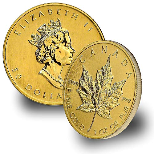 1979 CA - Present 1oz Gold Maple Leaf $50 Brilliant Uncirculated Random Year (1 Oz Canadian Gold Maple Leaf Price)