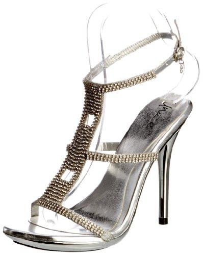Unze Evening Sandals L18857W - Sandalias para mujer Plateado