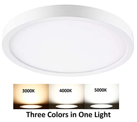 the latest 260f9 51958 QPLUS 15 Inch CCT Color Changing LED Flush Mount Ceiling ...