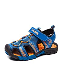 2017 Boys Summer Sport Quick Dry Closed-Toe Athletic Breathable Sandals