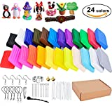 #7: Polymer Clay, Outgeek 24 Colors Oven Bake Clay, Soft Modeling Clay Starter Kit with 14 Sculpting Tools and Jewelry Accessories for Kids