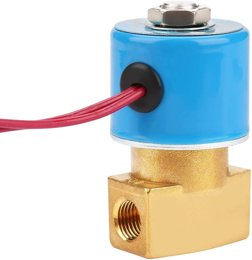 Cosiki Solenoid Water Valve,2 Way G1//4 Direct Acting Brass N//C KSD Solenoid Valve for Water 0-1Mpa DC24V