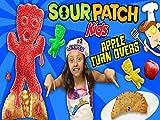 Lexi's Sour Patch Kids Gummy Baked Apple Pie Dessert Snack!