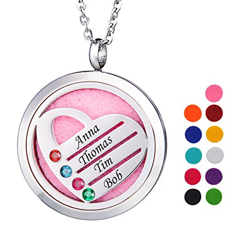 Birthstone Heart Necklace - 9