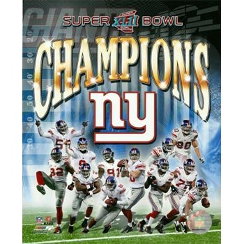 Giants 8x10 Picture - New York Giants Super Bowl XLII Champions Collage 8x10 Photo
