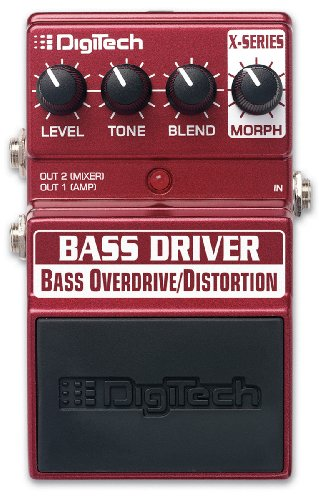 Digitech XBD Bass Driver Bass Overdrive/Distortion Pedal Ts9 Tube Screamer Overdrive Pedal