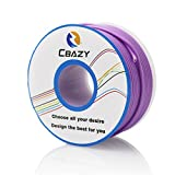 CBAZY™ Hook up Wire (Stranded Wire) 22 Gauge Flexible Silicone Wire 22AWG 25M (82 Feet) Electrical Wire Purple
