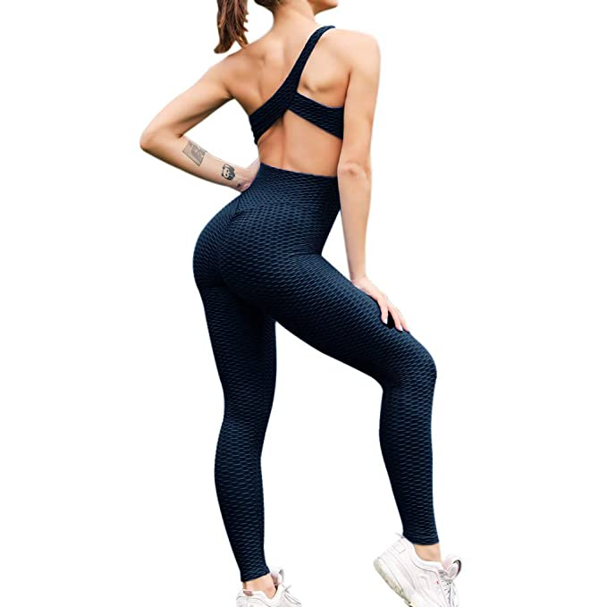 Amazon.com: Keepfit Yoga Jumpsuit, Womens Sleeveless One ...