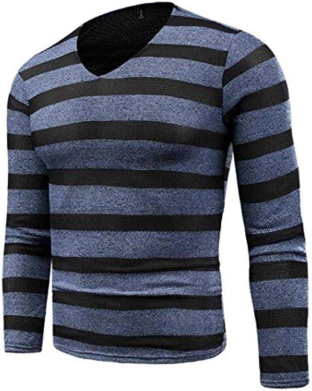 Pulli męskie Nner jesień Slim Fit Fashion Sweater Winter Jumper artykuły z dzianiny modne paski sweter na zewnątrz sport topy długa bluzka bluzy: Odzież