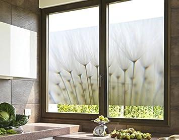 Brise Vue Pour Fenêtre Motif Fleur 90cm X 60cm Amazonfr Cuisine