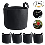 5PCS 7 Gallon Plant Growing Bags Flower Vegetable Aeration Planting Pot Container Indoor Outdoor Gardening Plant Pouch With Handles