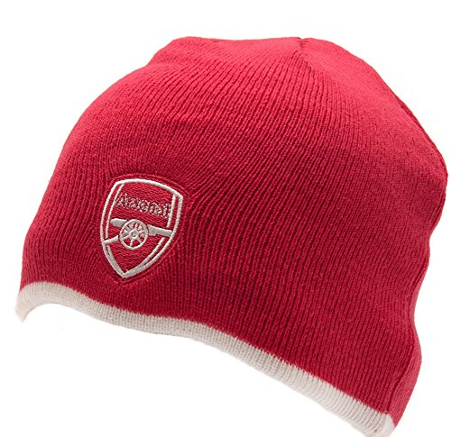 (Arsenal FC Pink Knitted HAT - Pink Bronx Beanie HAT - Great Pink Color with Arsenal FC Crest - Soft, Beautiful HAT)