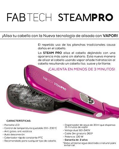 Cepillo alisador con vapor - Fabtech Steampro FUXIA: Amazon.es: Salud y cuidado personal
