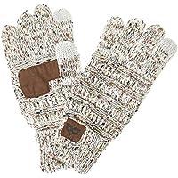 YOOWL Gloves Women Men Touchscreen Gloves Texting Warm Winter Knitted Full Finger Mittens Anti-Slip Unisex Gloves
