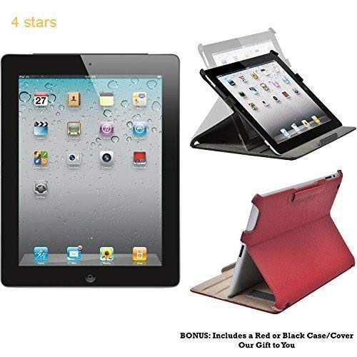Apple iPad 2 MC769LL/A - 16GB - 2nd Generation (Black) - Tablet with Skin (Renewed)